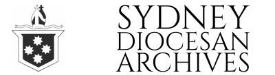 Sydney Diocesan Archives, Anglican Diocese of Sydney